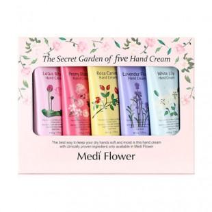 Mediflower The Secret Garden of five Hand cream set/ Подарочный набор кремов для рук «Цветочный сад» (5 шт * 50г)
