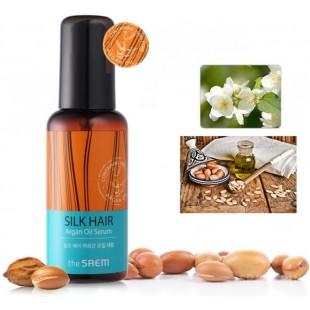 The Saem Silk Hair Argan Oil Serum 80 ml  Масло-сыворотка для волос с аргановым маслом