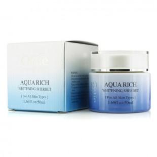 ottie aqua rich whitening sherbet/Интенсивно увлажняющий и отбеливающий крем-щербет для лица 50мл