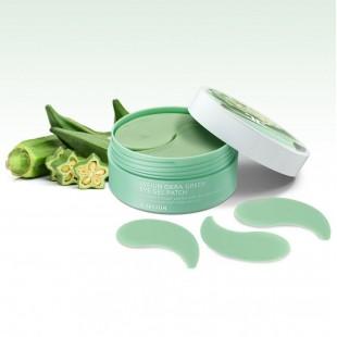 JAY JUN Okra Green Eye Gel Patch/Гидрогелевые патчи с экстрактом плодов окры 60 шт.