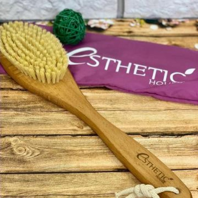 ESTHETIC HOUSE Dry Massage Brush/Щетка дренажная для сухого массажа, бук/сизаль