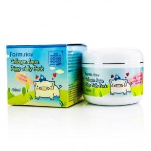 Farmstay Collagen Aqua Piggy Jelly Pack/ Питающая восстанавливающая коллагеновая маска 100ml