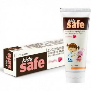 CJ Lion Kids Safe /Зубная паста детская Клубника 90 г
