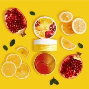 JAY JUN Pom Lemon Duo Eye Gel Patch/Гидрогелевые патчи с лимоном и гранатом 60 шт.