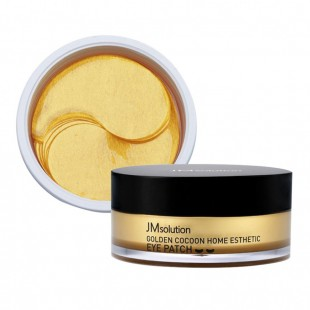 JM SOLUTION Golden Cocoon Home Esthetic Eye Patch/Гидрогелевые патчи с шëлком и золотом 60 шт.