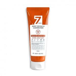 MAY ISLAND 7 Days Secret Vita Plus-10 Cleansing Foam/Пенка для умывания витаминизирующая 150 мл.