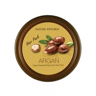 nature republic argan essential deep care hair pack/Интенсивно восстанавливающая маска с высококонцентрированным органическим маслом арганы для всех типов волос