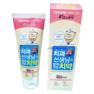 MKH Kizcare 8-None Toothpaste Strawberry детская зубная паста 3+ Клубника