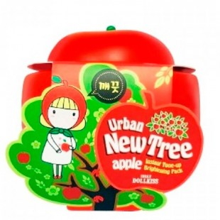 Baviphat Urban Dollkiss New Tree Apple Instant Tone-Up Brightening Pack/Маска осветляющая 100 мл