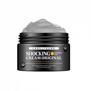 Label Young Shocking Cream Original Premium Ver. 50 мл/Осветляющий антивозрастной крем «Черное комбо»