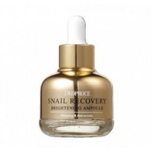 DEOPROCE Snail Recovery Brightening Ampoule/Осветляющая восстанавливающая сыворотка с муцином улитки 30ml
