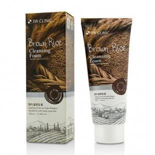 3W Clinic Brown Rice Foam Cleansing/ Пенка для умывания с экстрактом коричневого риса