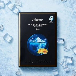 JM SOLUTION Snow Lotus Glacier Water Alaska Mask/Маска тканевая с экстрактом снежного лотоса и ледниковой водой 30 мл.