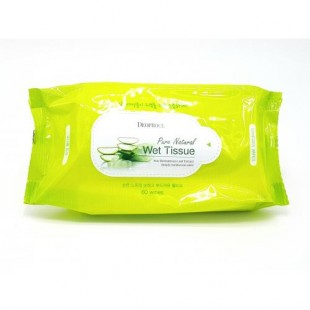 DEOPROCE Pure Natural Wet Tissue/ Очищающие салфетки с экстрактом алоэ