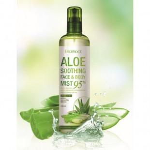 DEOPROCE Aloe Soothing Face&Body Mist 95%/Успокаивающий спрей с алоэ для лица и тела 410 мл.