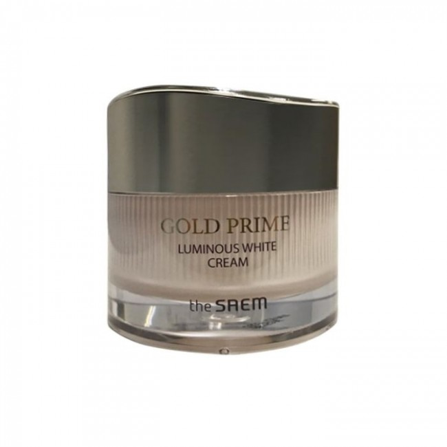 THE SAEM Gold Prime Luminous White Cream/Крем для лица антивозрастной для сияния кожи 50 мл.