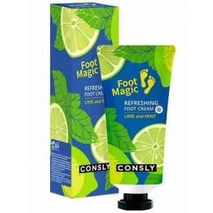 CONSLY Foot Magic Lime and Mint/Крем для ног освежающий с лаймом и мятой 100 мл.