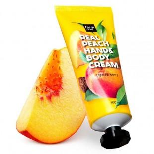 FARMSTAY Real Peach Hand & Body Cream/ Крем для рук и тела с экстрактом персика 100мл