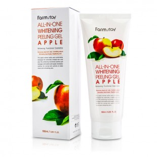 FARMSTAY All-In-One Whitening Apple Peeling Gel/Пилинг-гель для лица на основе экстракта яблока с отбеливающим эффектом 180 ml