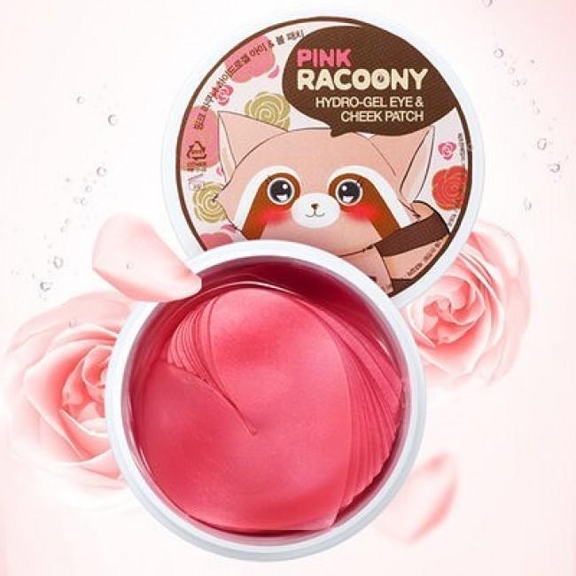 Secret Key Pink Racoony Hydro-gel Eye & Cheek Patch гидрогелевые патчи для глаз.