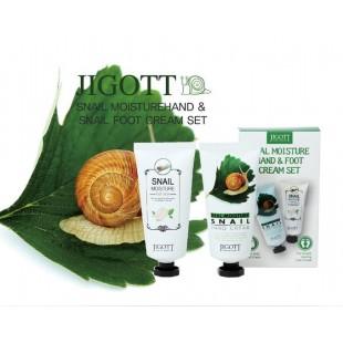 Jigott Real Moisture Hand and Foot Cream Set/ Набор кремов для рук и ног 2*100мл
