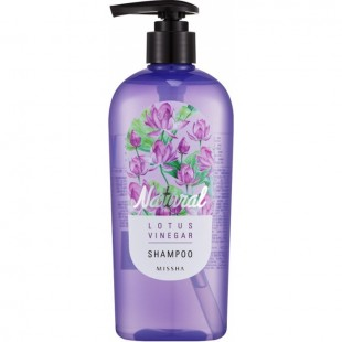 Missha Natural Lotus Vinegar Shampoo/Шампунь для волос с лотосом без силиконов 310 мл.