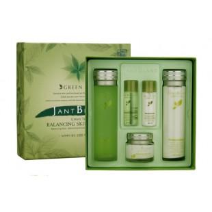 Jant Blanc Green Tea set/Набор для молодой комбинированной, жирной, а также проблемной кожи с зеленым чаем