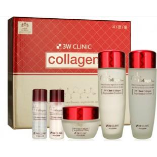 3W Clinic Collagen Skin Care 3 Items Set/Набор регенерирующих средств с коллагеном