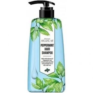 Welcos AROUND ME Peppermint Hair Shampoo/Шампунь c экстрактом мяты перечной 500ml