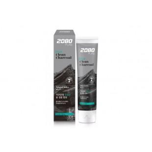 DENTAL CLINIC 2080 Pure Black Clean Charcoal/ Зубная паста уголь и мята 120гр
