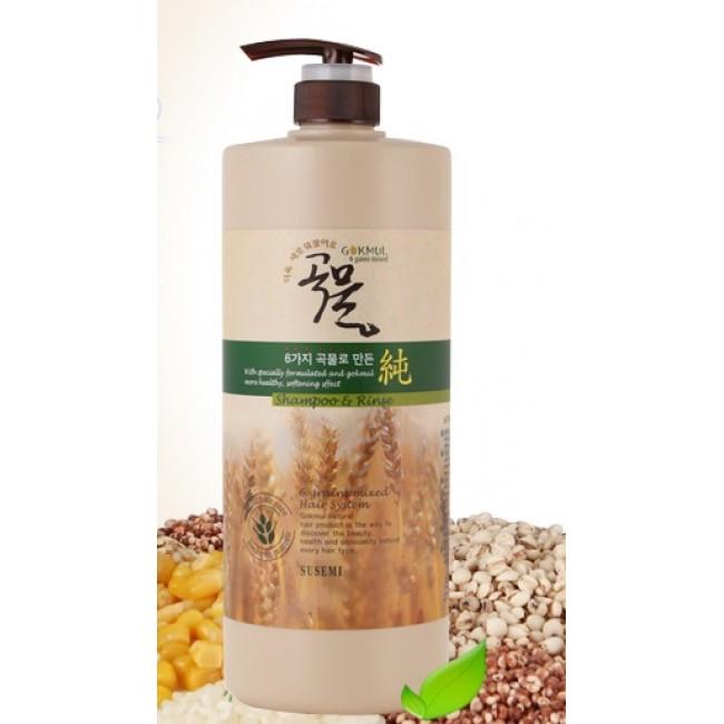 Enough 6 Grains mixed hair shampoo & rinse 1000мл/Шампунь-кондиционер 2-в-1 увлажняющий
