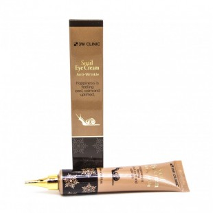 3W Clinic Snail Eye Cream Anti-Wrinkle/Антивозрастной крем для кожи вокруг глаз с экстрактом слизи улитки 40 мл