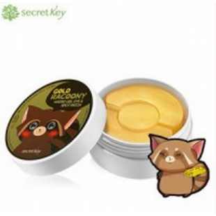 "SECRET KEY  ГИДРОГЕЛЕВЫЕ ПАТЧИ ""GOLD RACOONY HYDROGEL EYE & SPOT PATCH"" 90P"