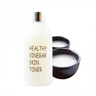 Real Skin Healthy Vinegar Skin Toner Makgeolli/Тонер с ферментированным уксусом на основе макколи