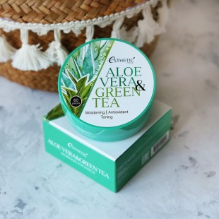 ESTHETIC HOUSE Aloe Vera & Green Tea Hydrogel Eye Patch/ Гидрогелевые патчи с алоэ и зеленым чаем 60шт