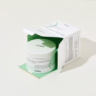 COSRX One Step Green Hero Calming Pad/ Успокаивающие диски для чувствительной и поврежденной кожи 70шт