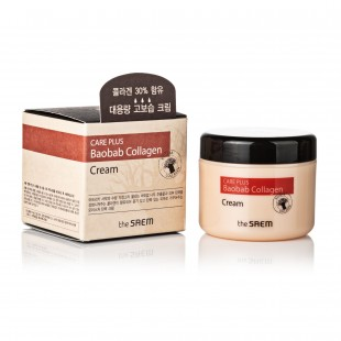 THE SAEM Care Plus Baobab Collagen Cream 100мл Коллагеновый крем с экстрактом баобаба