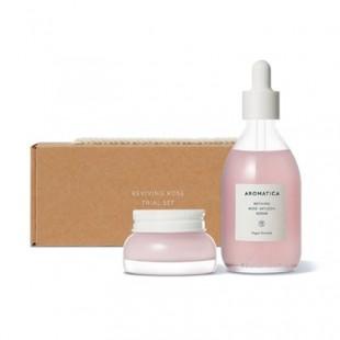 AROMATICA Reviving Rose Trial Set/Набор сыворотка и крем для лица с дамасской розой