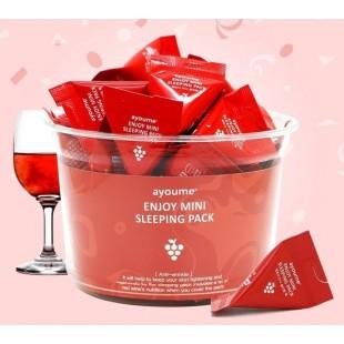 AYOUME Enloy Mini Sleeping Pack/Маска ночная с экстрактом красного вина 3 г./шт.