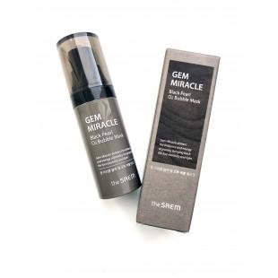 THE SAEM Gem Miracle Black Pearl O2 Bubble Mask/Маска кислородная с экстрактом черного жемчуга 10 гр.