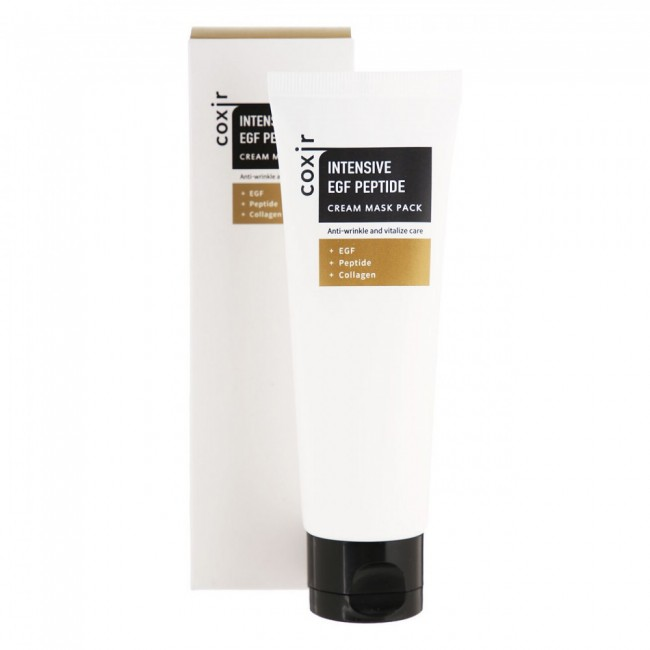 COXIR Intensive EGF Peptide Cream Mask Pack/Маска ночная для лица антивозрастная 80 мл.