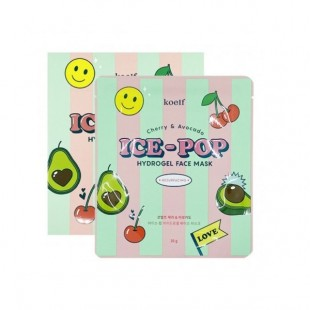 KOELF Cherry & Avocado Ice-Pop Hydrogel Face Mask/Гидрогелевая маска с экстрактом вишни и авокадо 30 г.