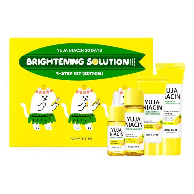 SOME BY MI Yuja Niacin 30 Days Brightening Solution 4-Step Kit/Набор для лица с экстрактом юдзу.