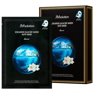 JM SOLUTION Edelweiss Glacier Water Alps Mask/Маска тканевая с эдельвейсом и ледниковой водой 30 мл.