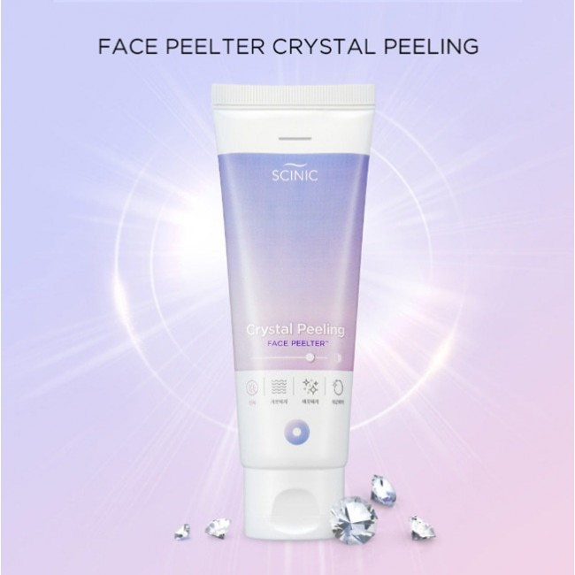 SCINIC Crystal Peeling Face Peelter/Пилинг-скатка для жирной кожи 80 мл.