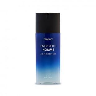 DEOPROCE Energetic Homme All-In-One Skin Milk/Тонизирующее молочко для мужчин 130 мл.