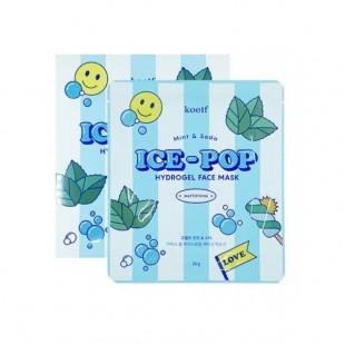 KOELF Mint & Soda Ice-Pop Hydrogel Face Mask/Гидрогелевая маска с мятой и газировкой 30 г.