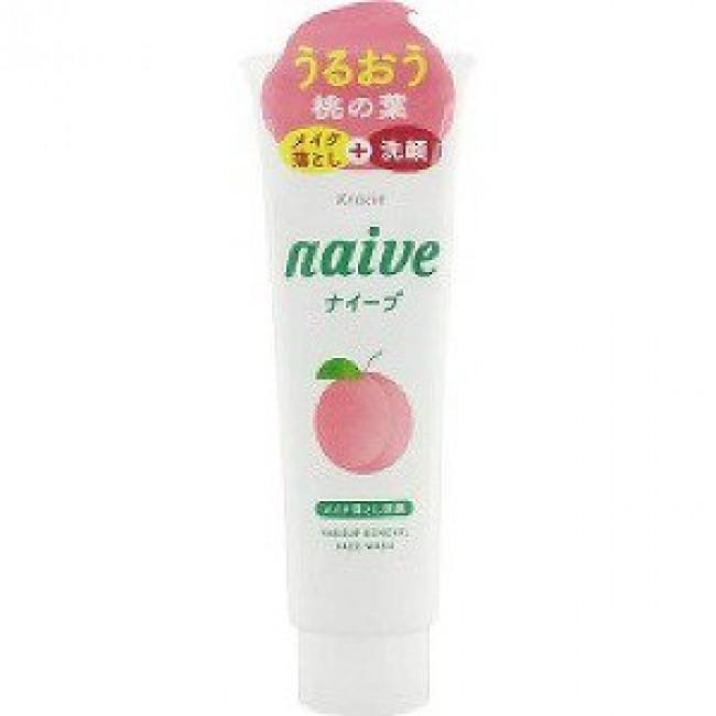 Kracie Naïve Пенка для умывания с экстрактом листьев персикового дерева 200гр