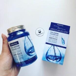 FARMSTAY Collagen & Hyaluronic Acid All-In-One Ampoule  /Многофункциональная ампульная сыворотка с коллагеном и гиалуроновой кислотой 250ml