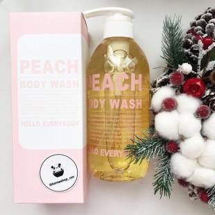 Hello Everybody Nature Holic Peach Body Wash/Очищающий гель для душа с экстрактом и ароматом персика